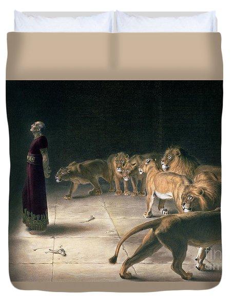 Daniel In The Lions Den Duvet Cover