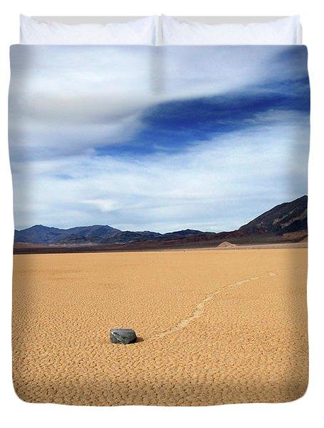 Death Valley Racetrack Duvet Cover
