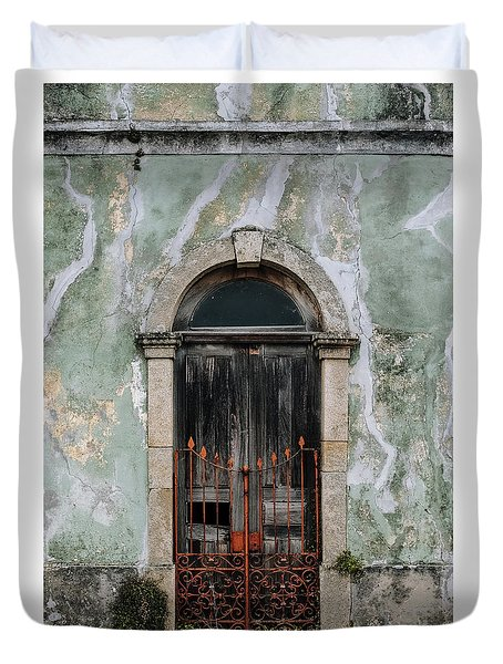 Duvet Cover featuring the photograph Door With No Number by Marco Oliveira