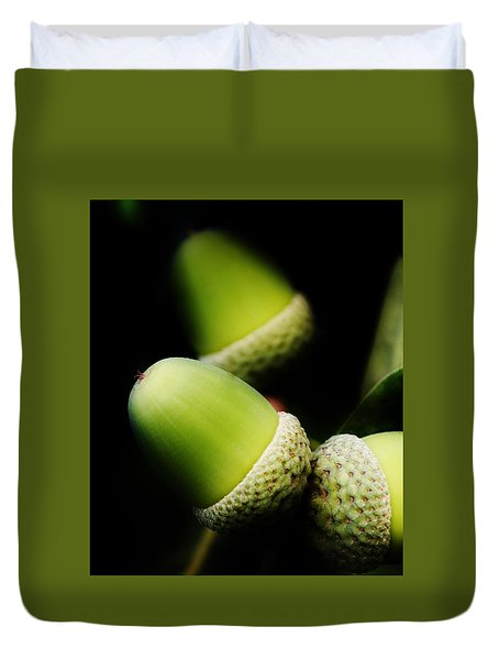 Foliage And Acorns Duvet Cover by Werner Lehmann