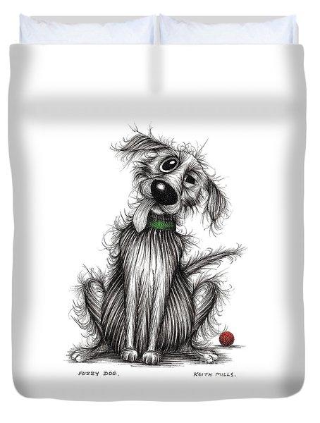 Fuzzy Dog Duvet Cover