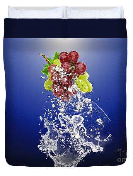 Grape Splash Duvet Cover
