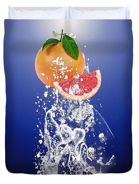 Grapefruit Splash Duvet Cover by Marvin Blaine