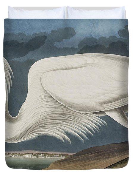 Great White Heron Duvet Cover by John James Audubon
