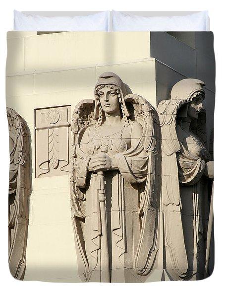 4 Guardian Angels Duvet Cover