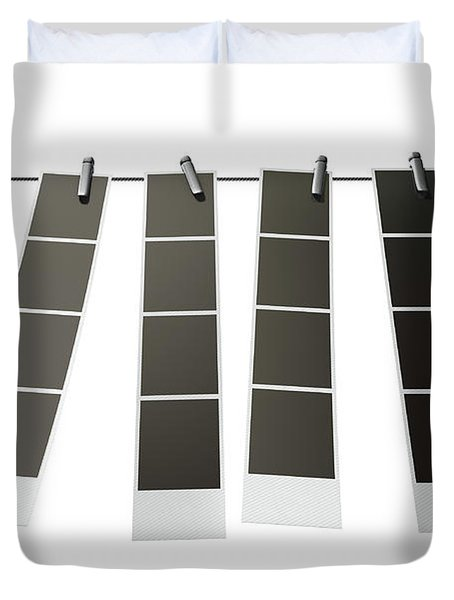 Hanging Instant Photograph Gallery Duvet Cover