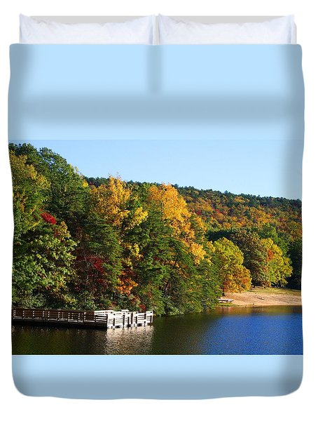 Hanging Rock Lake Duvet Cover