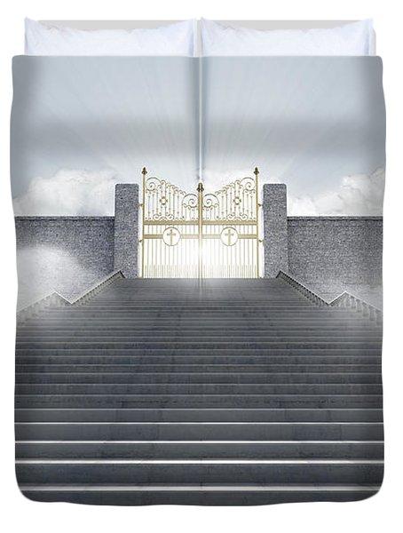 Heavens Gates Duvet Cover