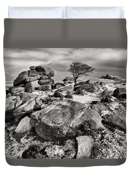 Holwell Tor On Dartmoor Duvet Cover