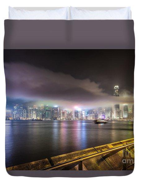 Hong Kong Stunning Skyline Duvet Cover
