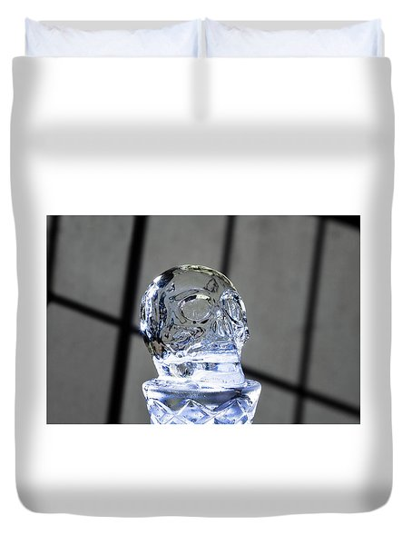 Ice Skullpture Duvet Cover