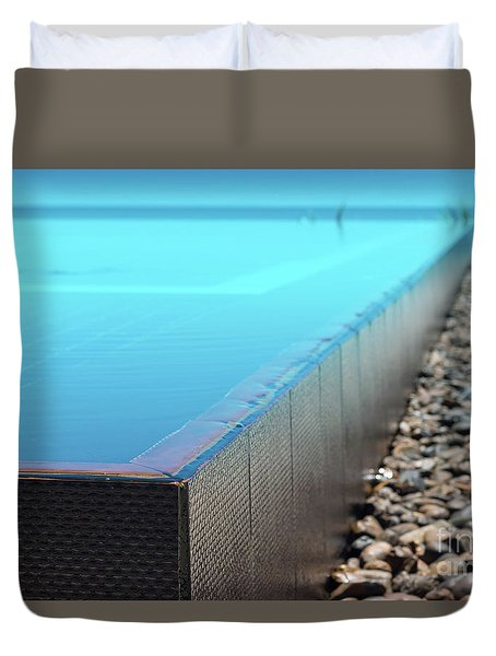 Duvet Cover featuring the photograph Infinity Pool by Atiketta Sangasaeng