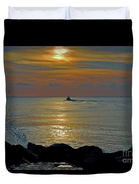 Duvet Cover featuring the photograph 4- Into The Day by Joseph Keane