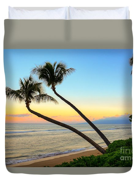 Duvet Cover featuring the photograph Island Sunrise by Kelly Wade