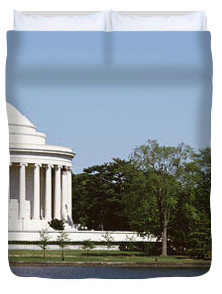 Jefferson Memorial, Washington Dc Duvet Cover by Panoramic Images