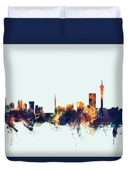 Johannesburg South Africa Skyline Duvet Cover
