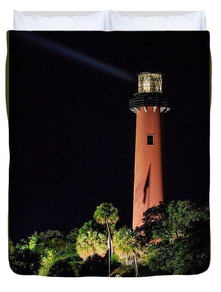 Jupiter Lighthouse Duvet Cover