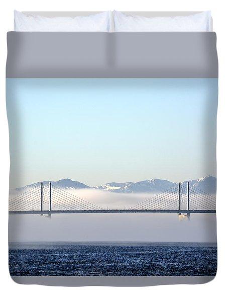 Kessock Bridge, Inverness Duvet Cover
