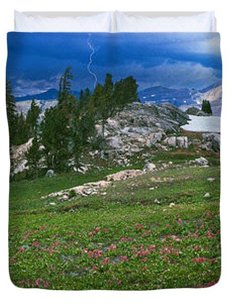 Landscape With Mountain Range Duvet Cover
