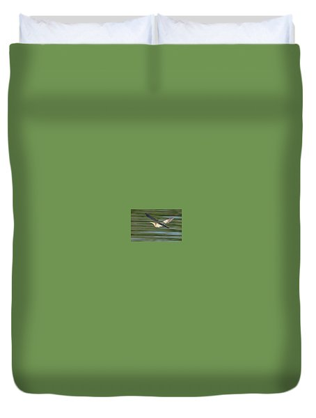 Least Bittern Duvet Cover