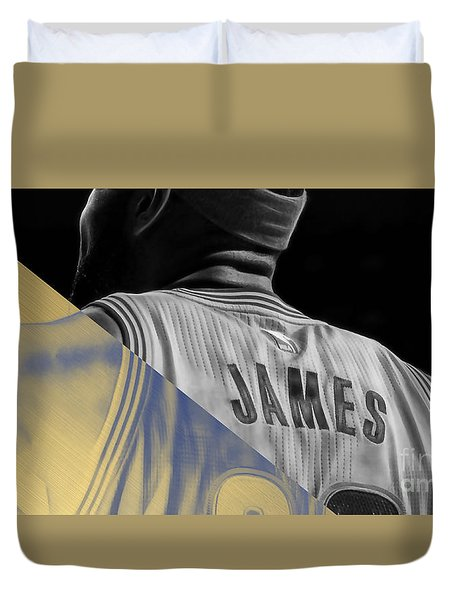 Lebron James Collection Duvet Cover by Marvin Blaine