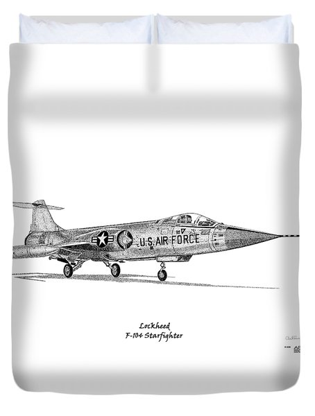 Lockheed F-104 Starfighter Duvet Cover by Arthur Eggers