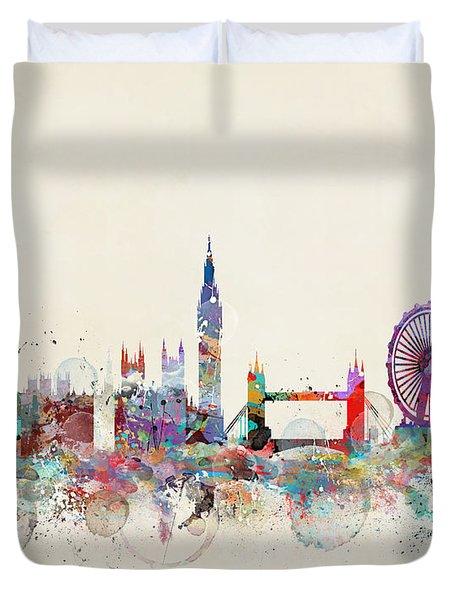 London City Skyline Duvet Cover
