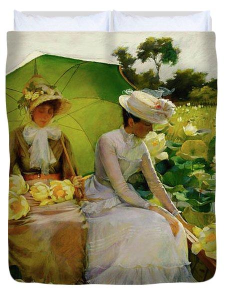 Lotus Lilies Duvet Cover