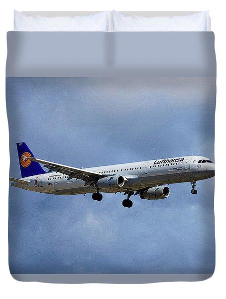 Lufthansa Airbus A321-131 Duvet Cover