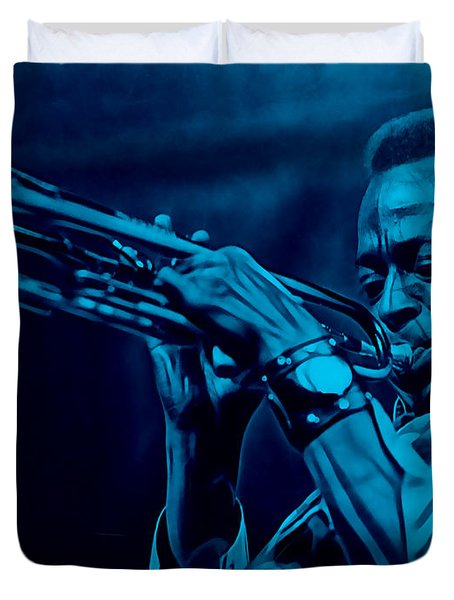 Miles Davis Collection Duvet Cover