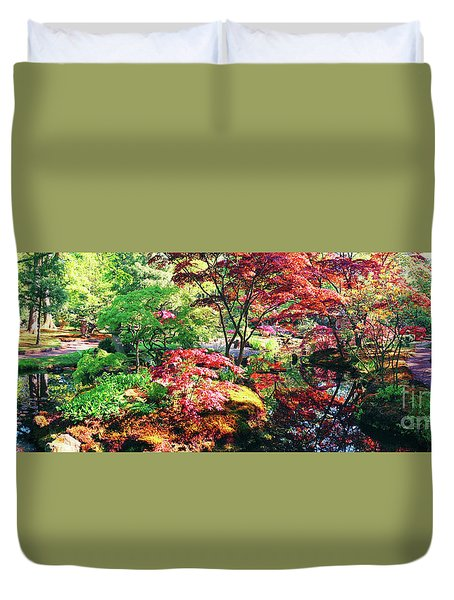 Duvet Cover featuring the photograph Nature Background Panorama by Ariadna De Raadt