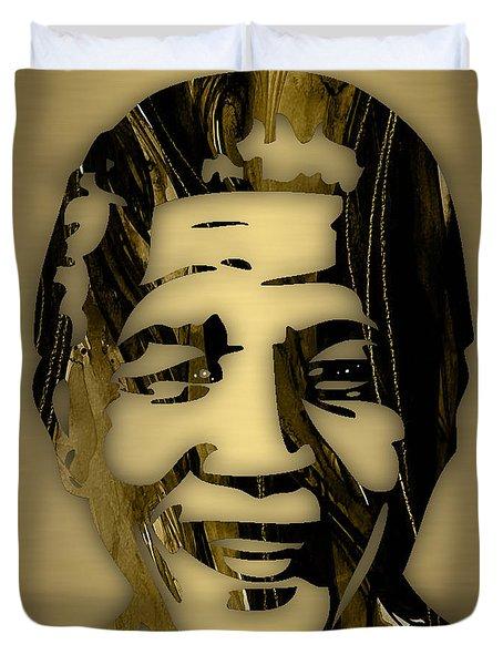 Nelson Mandela Collection Duvet Cover by Marvin Blaine