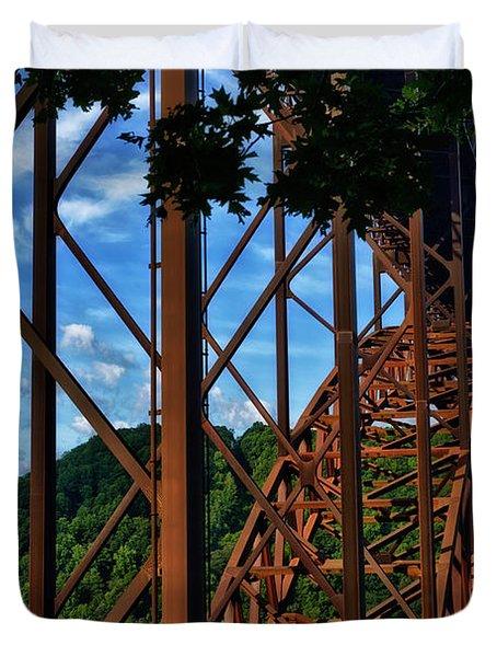 New River Gorge Bridge Duvet Cover