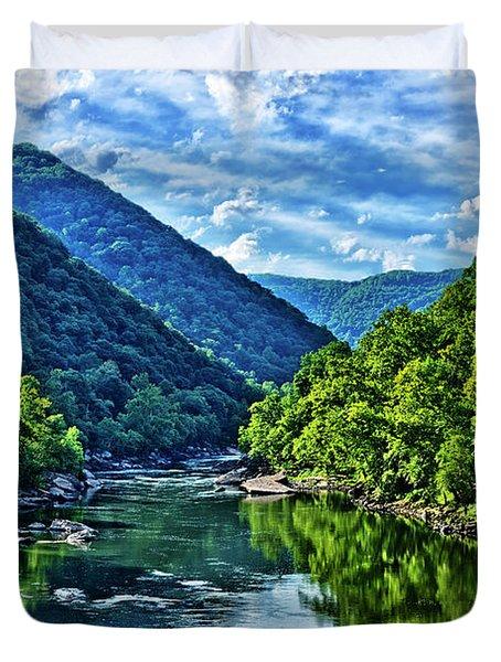 New River Gorge National River Duvet Cover