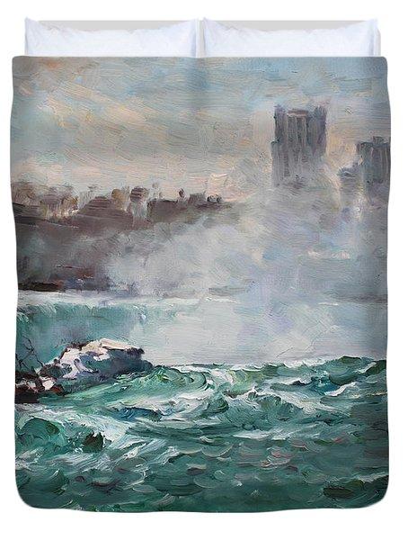 Niagara Falls Duvet Cover by Ylli Haruni