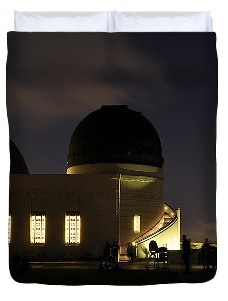 Night At Griffeth Observatory Duvet Cover