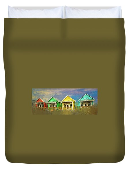 Duvet Cover featuring the digital art 4 Of A Kind by Dale Stillman