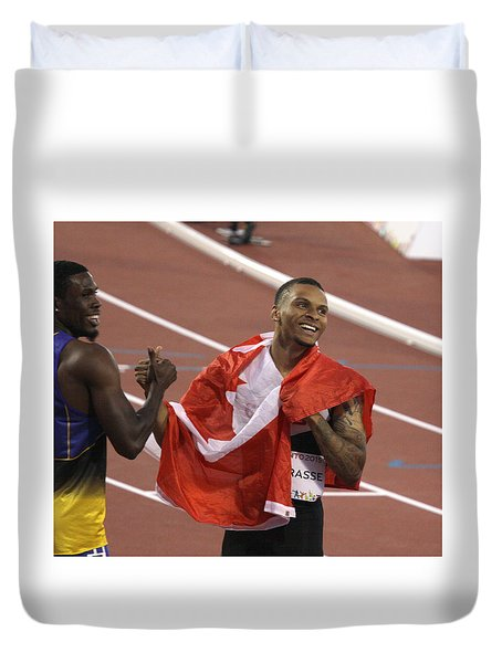 Pam Am Games. Athletics Duvet Cover
