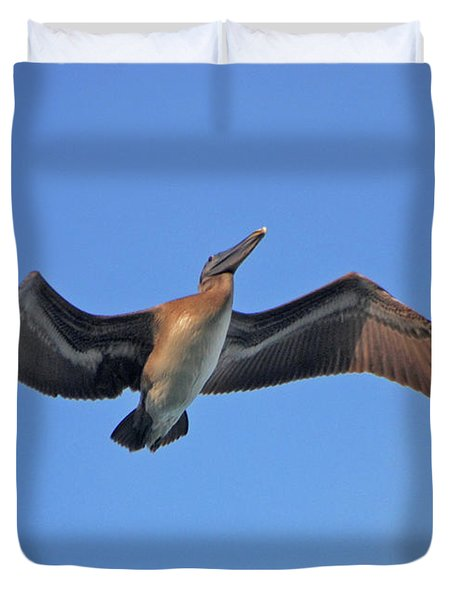 Duvet Cover featuring the photograph 4- Pelican by Joseph Keane