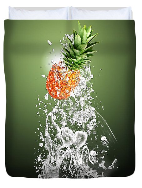 Pineapple Splash Duvet Cover by Marvin Blaine