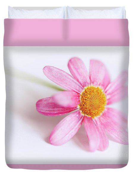 Duvet Cover featuring the photograph Pink Aster Flower by Nick Biemans