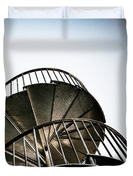 Pop Brixton - Spiral Staircase - Industrial Style Duvet Cover