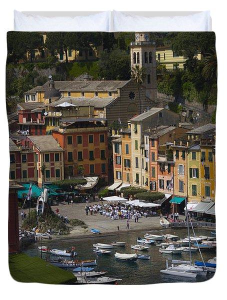 Portofino In The Italian Riviera In Liguria Italy Duvet Cover by David Smith