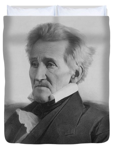President Andrew Jackson Duvet Cover by War Is Hell Store