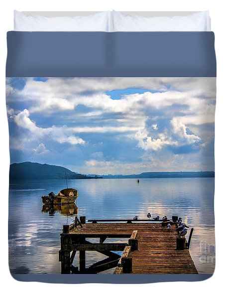 Quiet Lake Duvet Cover