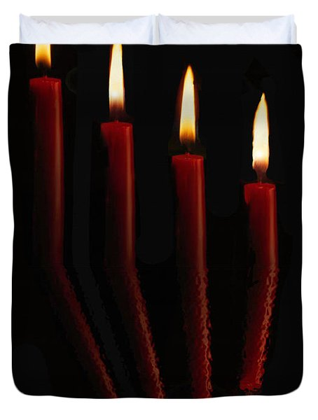 4 Reflected Candles Duvet Cover