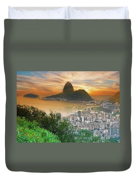 Rio De Janeiro Brazil Duvet Cover