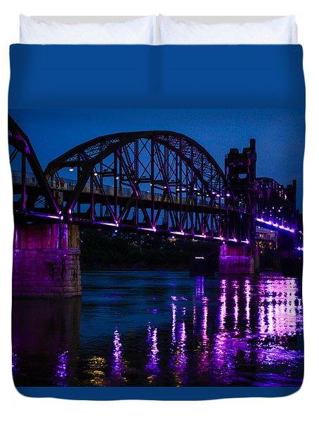 Rock Island Bridge Arkinsas Duvet Cover by Chris Smith