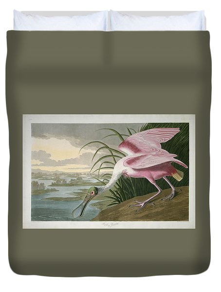 Roseate Spoonbill Duvet Cover by Rob Dreyer