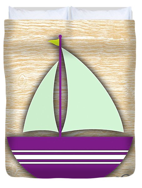 Sailing Collection Duvet Cover by Marvin Blaine